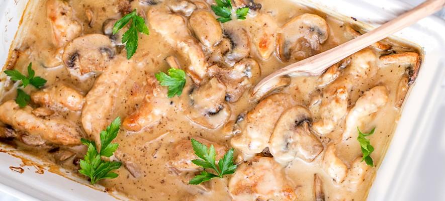 Куриное филе с вешенками рецепты