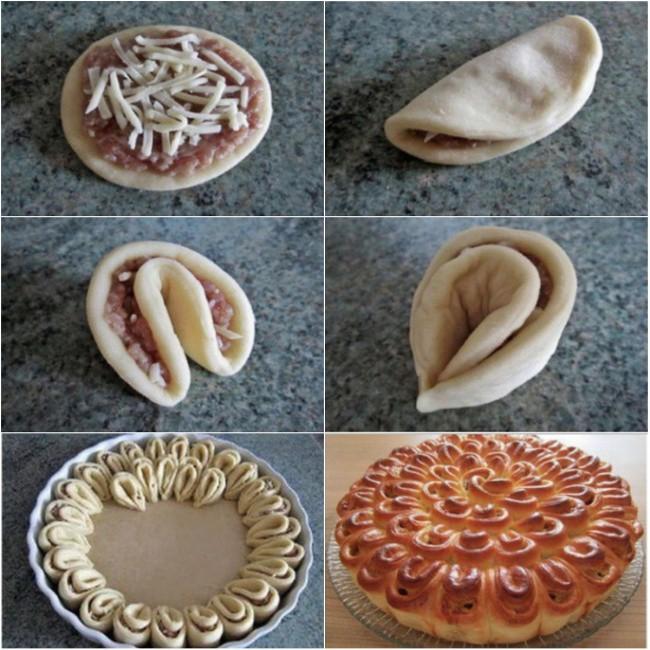 Блюда из дрожжевого теста с фаршем рецепты