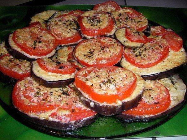 Жареные баклажаны с помидорами и перцем рецепт с пошагово