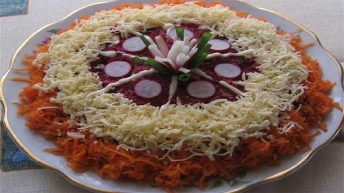 Салат любовница с помидорами рецепт