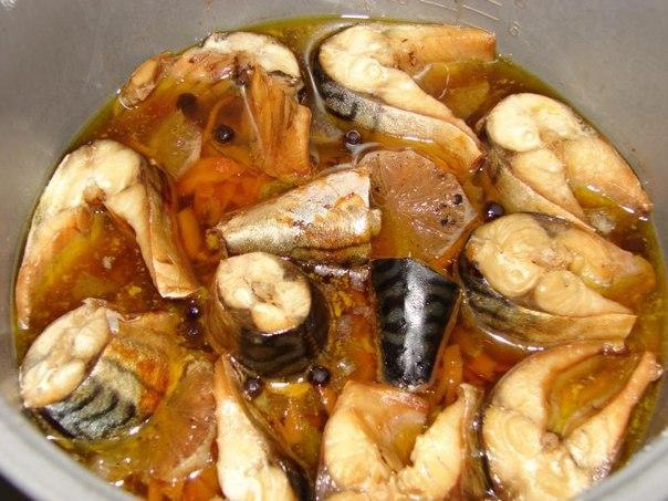 Скумбрия на сковороде рецепт с фото тушеная