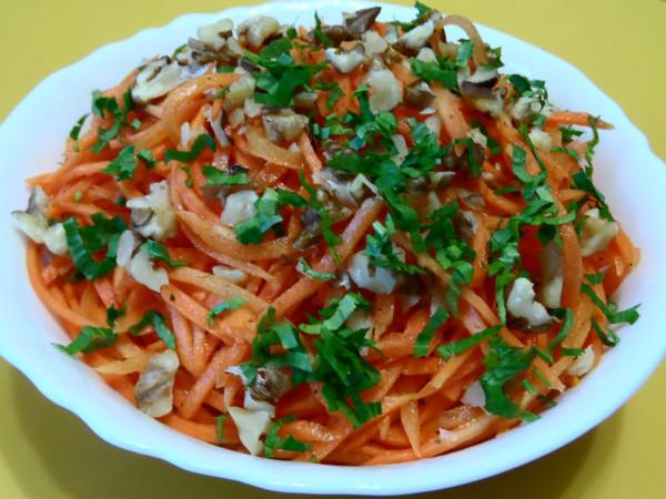 рецепты салата с фотографией из моркови по-корейски